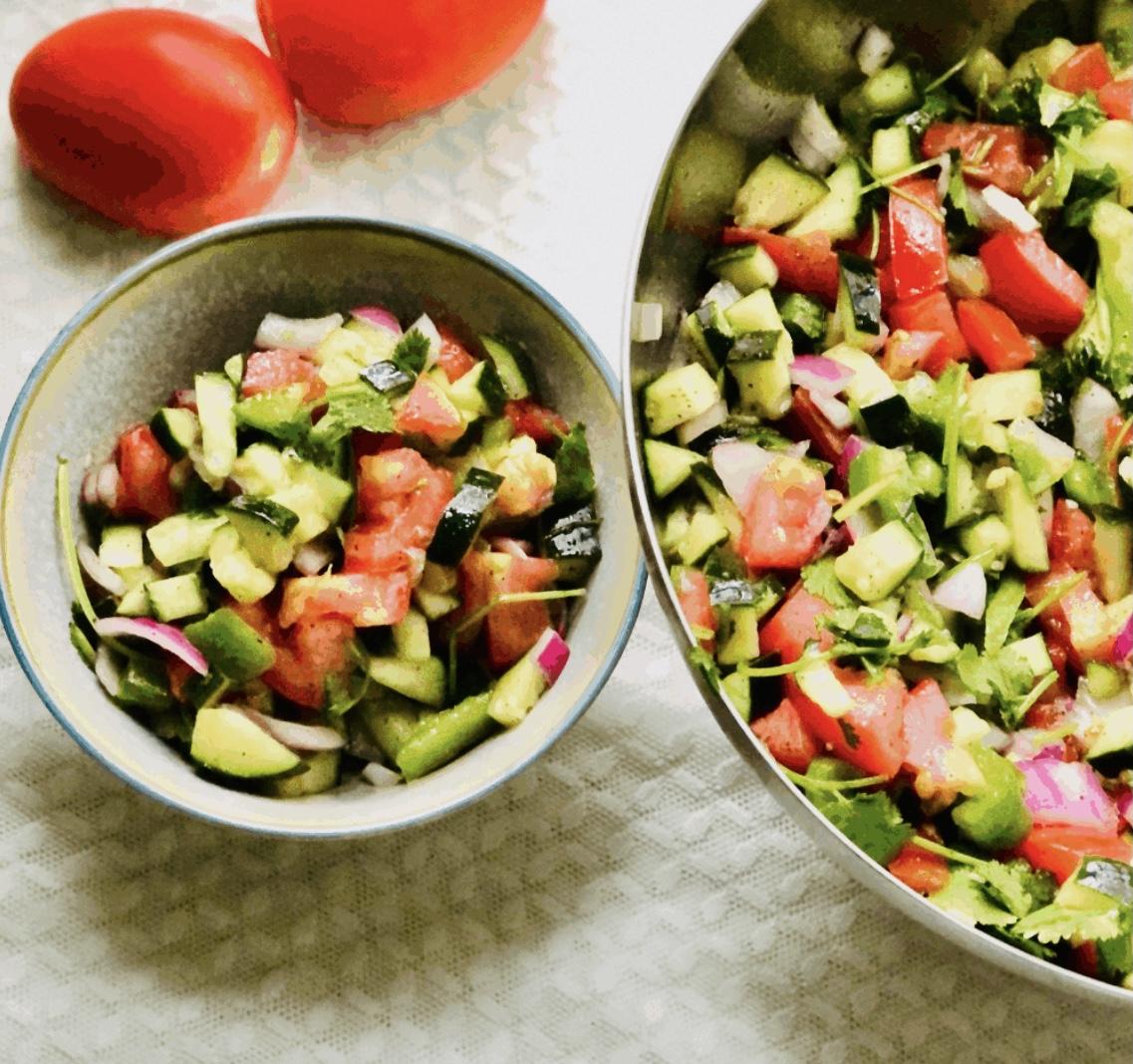 Eight Fresh Salads persian
