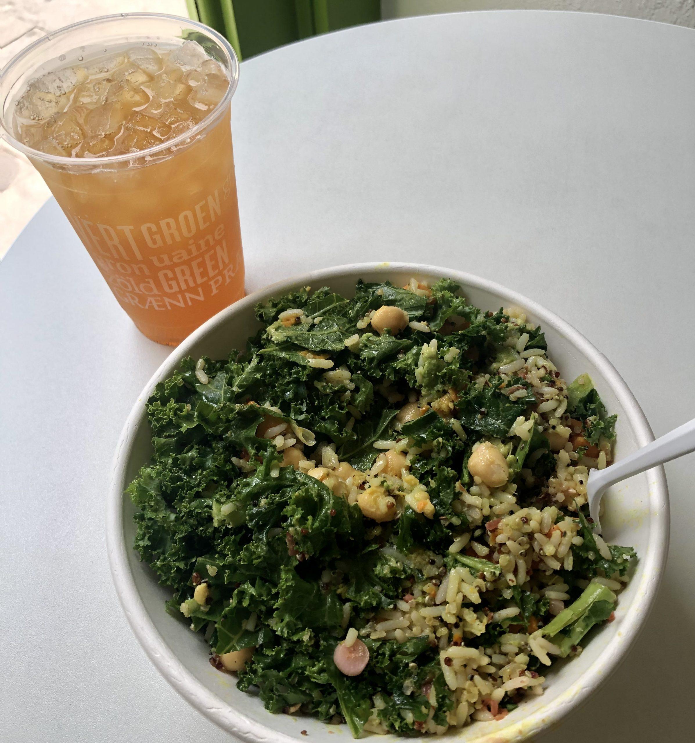 Vegan Come al bol de buda de Charleston verde